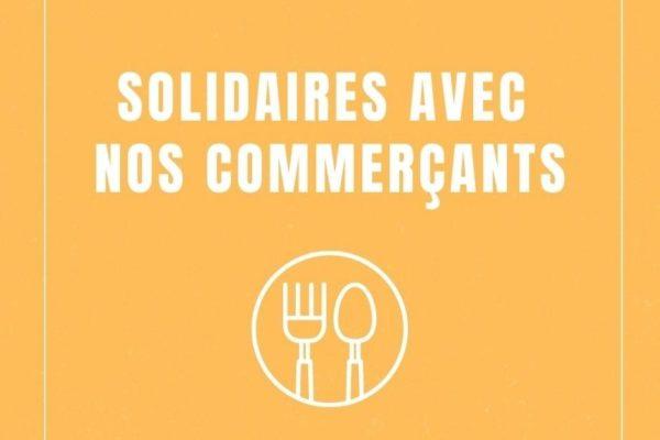 Solidaires avec nos commerçants