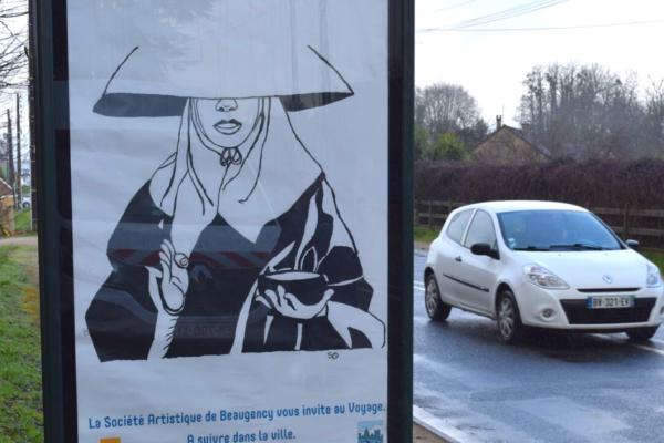 La Société Artistique de Beaugency affiche ses œuvres dans la ville