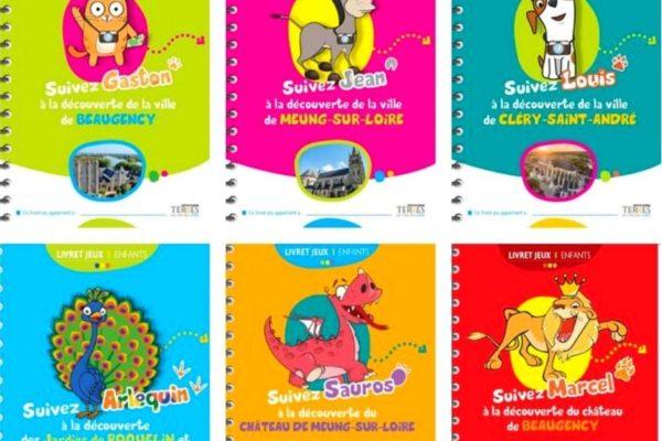 De livrets jeux pour découvrir les Terres du Val de Loire : suivez Jean, Gaston et Louis et les autres mascottes