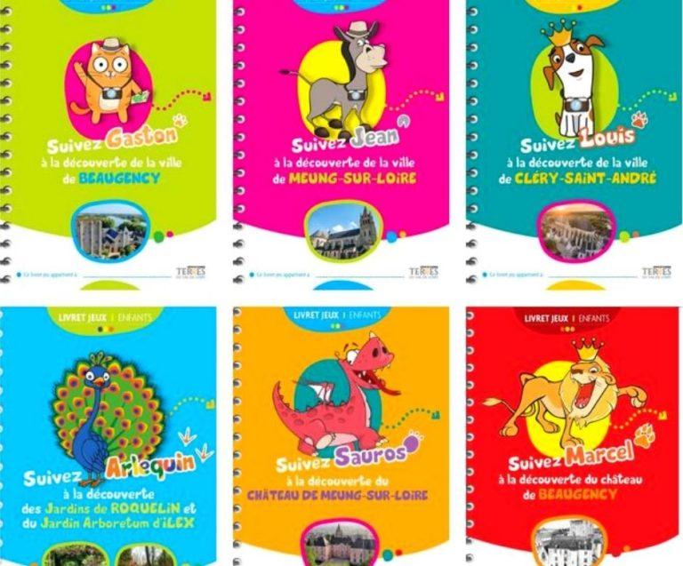 Read more about the article De livrets jeux pour découvrir les Terres du Val de Loire : suivez Jean, Gaston et Louis et les autres mascottes